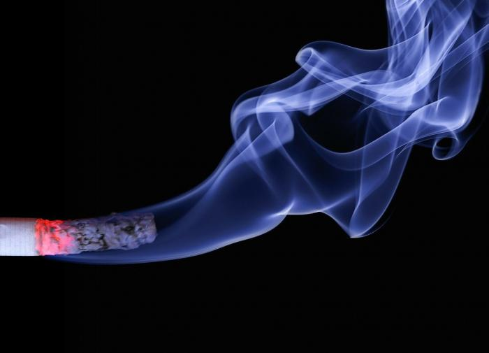 Woman starts smoking cigarette when flying business class from Turkey to Russia