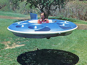 A flying saucer. Made in Russia