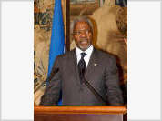 Annan urges Russia to remember MDGs