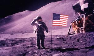 US flags disappear from the Moon