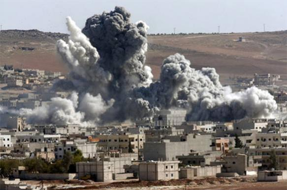 US coalition strikes Syrian village