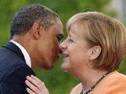 G7 summit: Merkel dancing for Obama