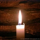 Burning candle cleanses air