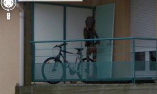 Google Street View photo shows bizarre humanoid creature on balcony