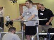 Paraplegic walks after receiving implants