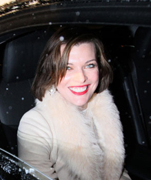 Milla Jovovich promotes her new film in Moscow