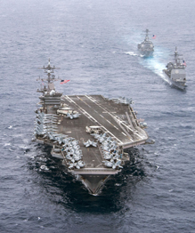 The impressive power of USS Carl Vinson