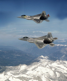 F-22 Raptor in the sky