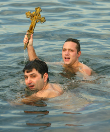 Epiphany: Extreme bathing in icy waters