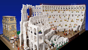 Lego builder creates first-ever Lego Colosseum
