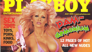 Pamela Anderson on Playboy covers