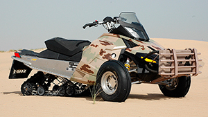 SAND-X fastest tracked all terrain Vehicle