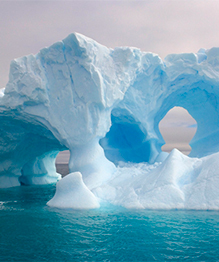 Amazing icerbergs created by mother nature
