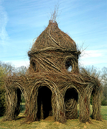 Willow-weaving art by Patrick Dougherty