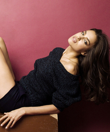 Irina Shayk showing off her legs for XTI