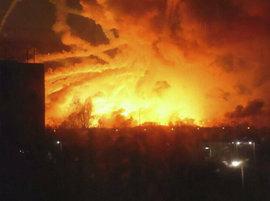 пожар, Харьков, боеприпасы, военный склад