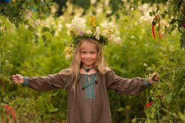 девочка, природа
