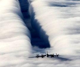 Самолеты НАТО тщетно пугали ядерные Ту-95МС над Евпропой. ВИДЕО