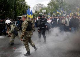 Украина, Праздник Победы, аресты
