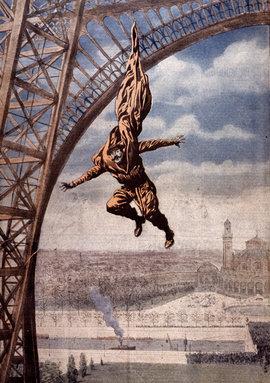 Франц Райхарт, плащ-парашют