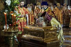 Патриарх Кирилл, мощи Николая Чудотворца