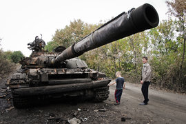 война, Украина, Донецк, танк