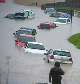 дождь, наводнение