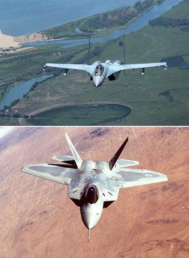 Су-35, F 22