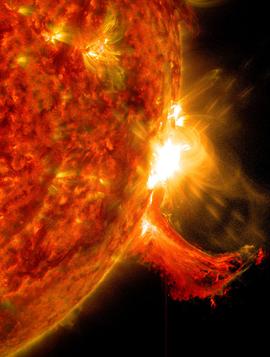солнце, вспышка на солнце