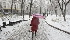 снег, снегопад, женщина
