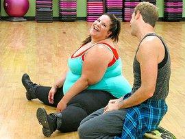 полная, ожирение, девушка и парень