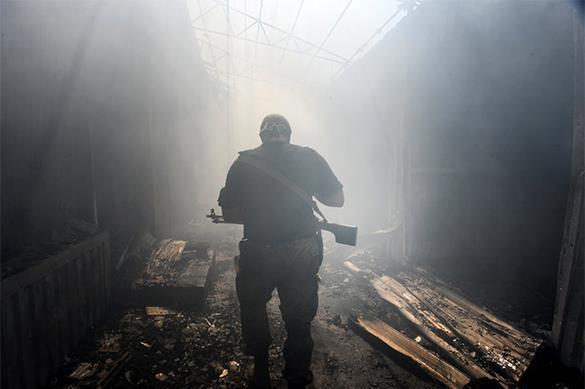 Le silence règne dans le Donbass.