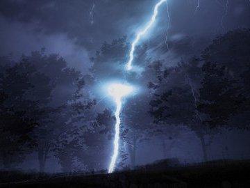 Молния - кара небесная за грехи земные