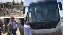Взрыв туристического автобуса возле пирамид Гизы в Египте