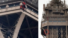 Эйфелева башня закрыта после того, как один человек пытался подняться на нее