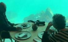 В Норвегии открылся крупнейший в мире ресторан под водой