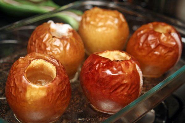 Диета на печеных яблоках