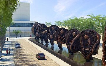У входа в женскую больницу установили 15 скульптур матки
