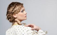 Интересные прически для средней длины волос