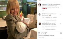 Валерия посетила ресторан с двухмесячной внучкой Селин