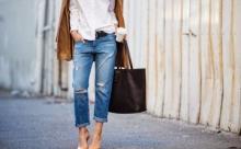 О джинсах от Эвелины Хромченко.