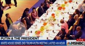 Опубликовано видео: Трамп просит у Путина разрешения подсесть