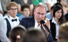 """Опубликованы самые """"недетские"""" вопросы и ответы Путина"""
