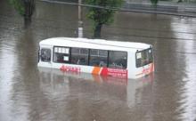 """Пассажиры плыли в автобусе под """"Титаник"""""""