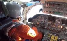 """Полет Ту-160 в Венесуэлу снят изнутри """"стратегов"""""""