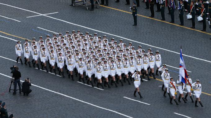 Desfile militar na Praça  Vermelha no Dia da Vitória