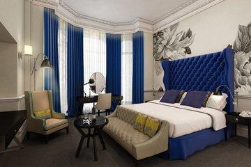 Голубая мечта: дизайн интерьера спальни в синих тонах
