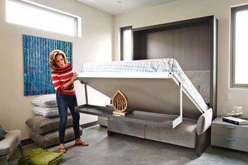 Подъемная кровать в интерьере
