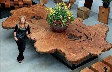 Идеи декора из спилов дерева