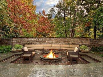 Осенний очаг во дворе. Создаем за шесть шагов